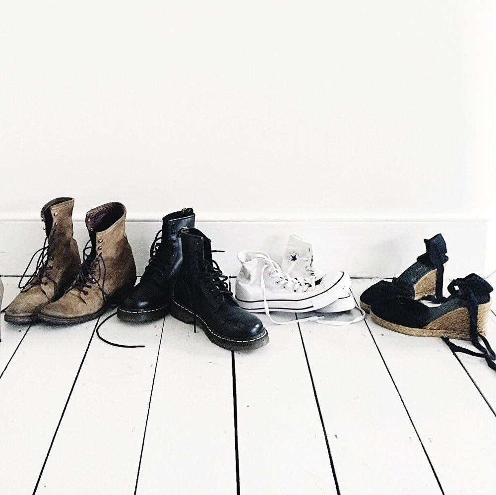 Boots, L to R: Free People, Doc Martens, Converse, Espadrilles
