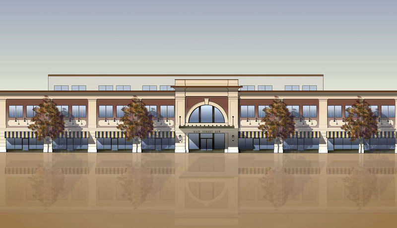Main Street Row Rendering