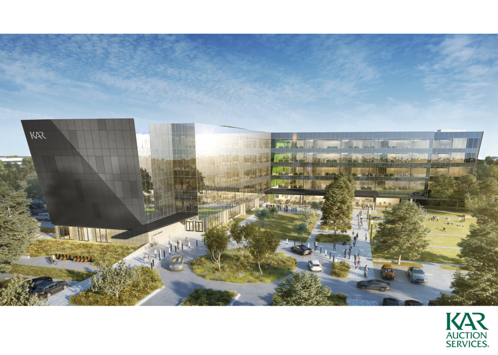 KAR Auction Services Campus | Indianapolis - 250,000 SF Office Planned for Completion in 2019 - See more Great Projects & Insights like these inside the Market Study!