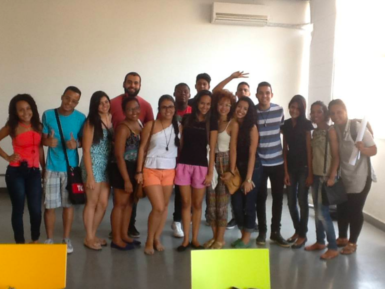 Grupo de jovens empreendedores.