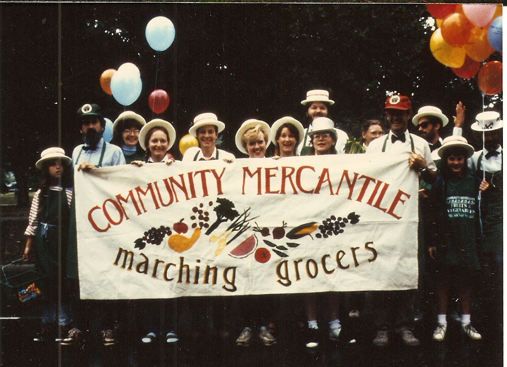 The Marching Grocers at the annual Earth Day parade.