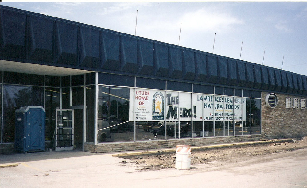 The co-op moved to 9th & Iowa, the former site of Rusty's IGA, in 2001.