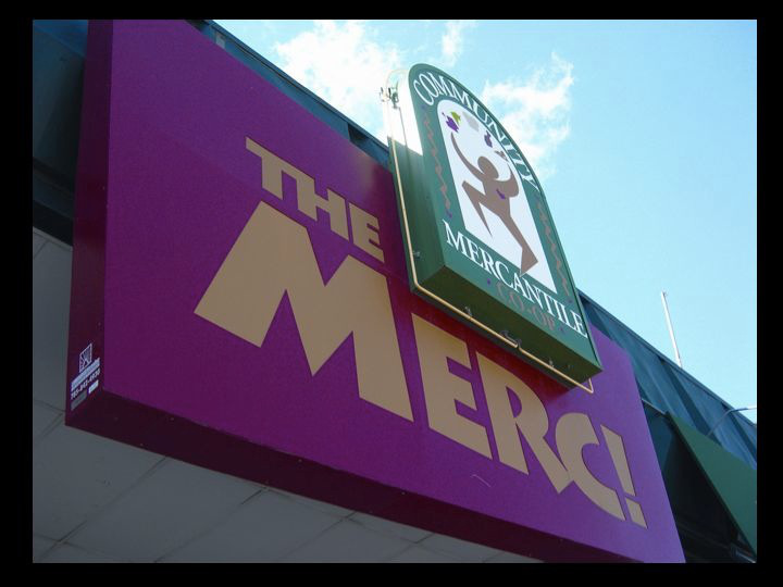 The new sign at 901 Iowa in 2001.