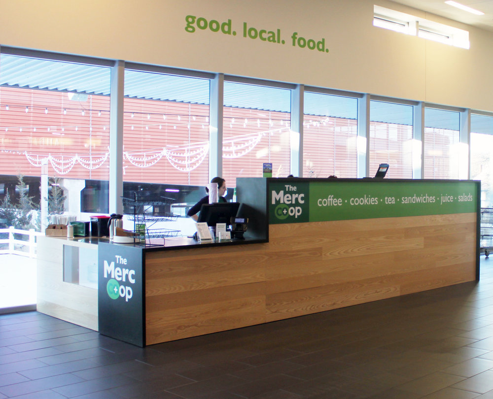 The Co+op Cafe on opening day, January 4, 2017. Stay tuned for more Merc Made food and beverages in the coming days and weeks.