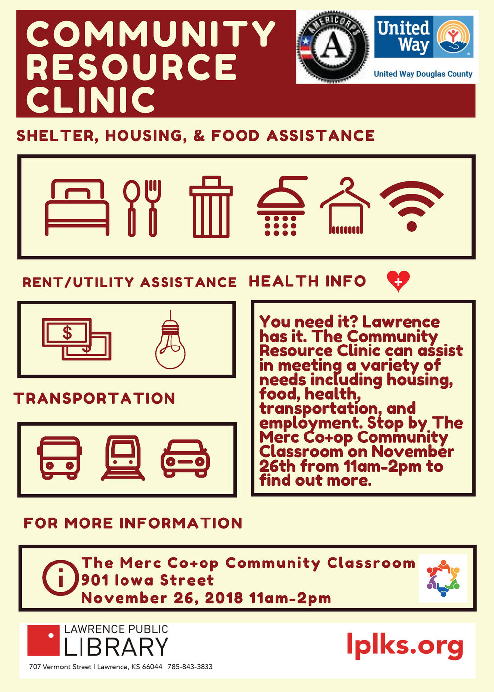 Community Resource Clinic at the Merc Flyer.jpg