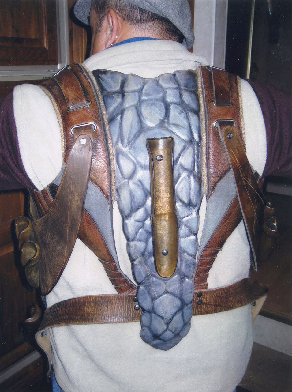 tooled leather harness