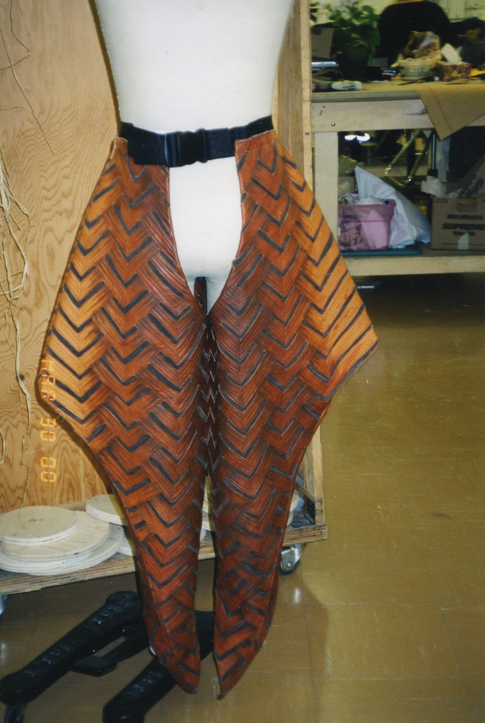 leather cut-out design