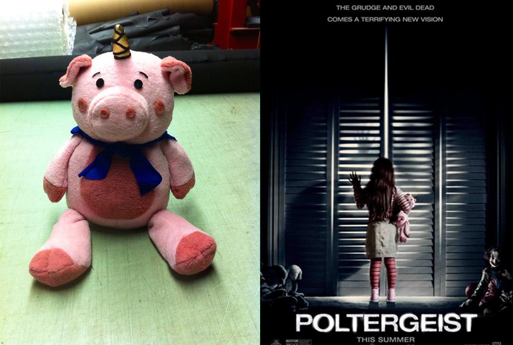 Stuffed 'Piggy-Corn' for Poltergeist (2015) movie