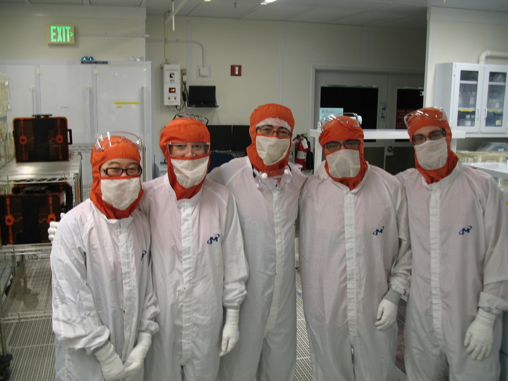 CHEM 412 class conducting experiments in the Class 1 cleanroom at Micron Technology. Special thanks to Ben Greenwood and everyone at Micron for an awesome experience!  Photo credit: Nick Wieber, Micron