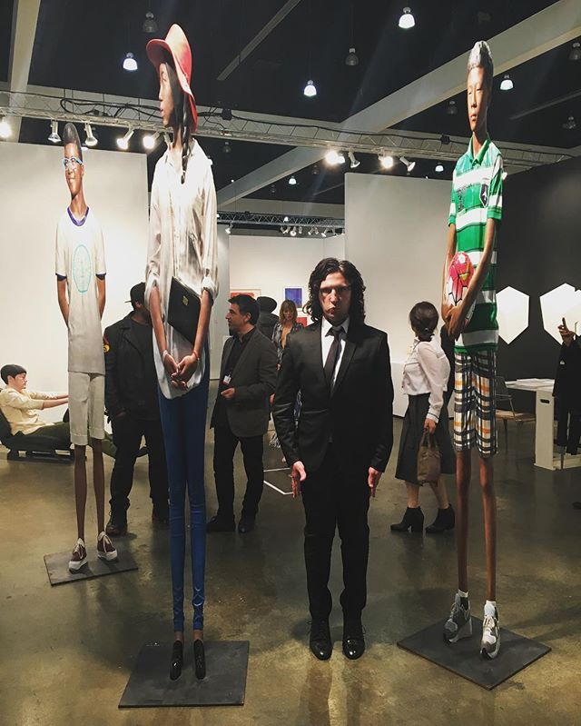 I wish I was a little bit taller! LA Art Show