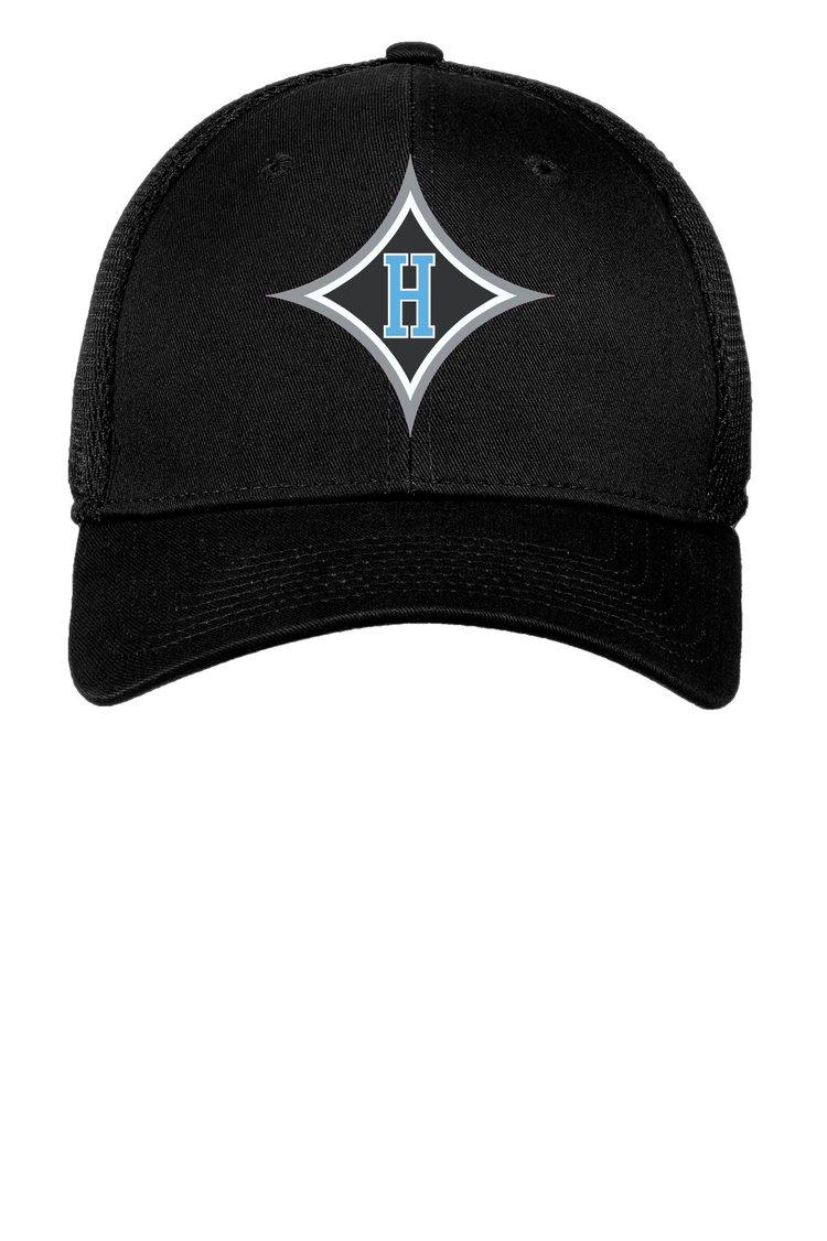 New Era Black Fitted HHS Diamond H Logo Hat — By George 6fdbac182b6