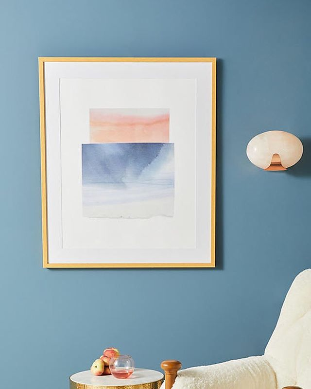 One of two new prints available through @anthropologie (photo from their site). Thank you @artfullywalls
