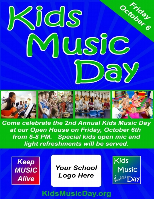 Kids Music Day Example Flyer