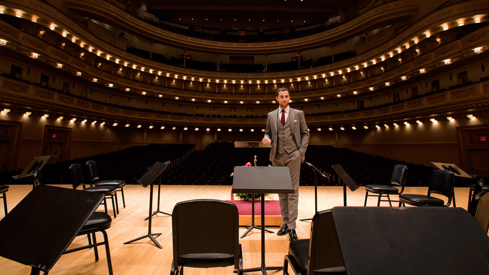 Paolo Petrocelli on the main stage of Carnegie Hall in New York
