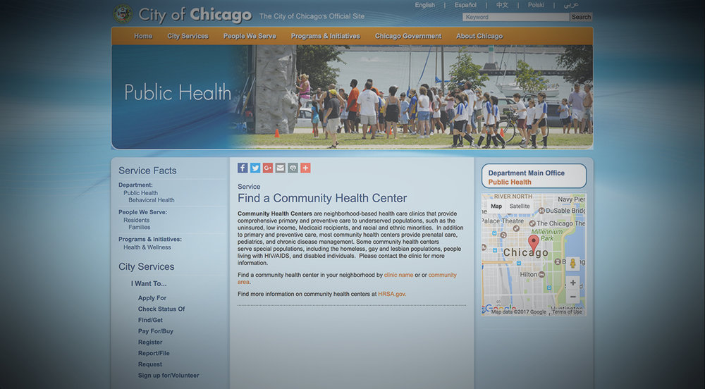 CITY OF CHICAGO,PUBLIC HEALTH -