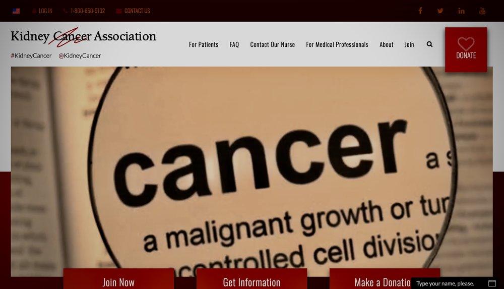 kidney cancer association -