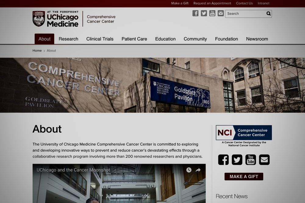 university of chicago comprehensive cancer center -