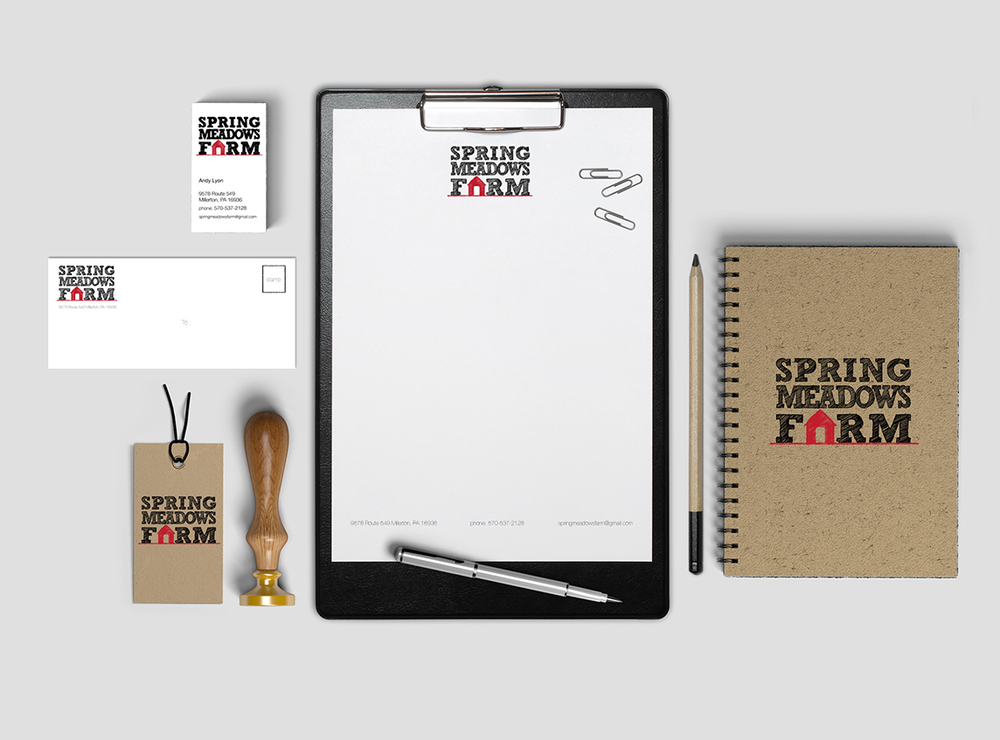 Corporate Identity Design  Business card, letterhead, envelope, tag and notebook design