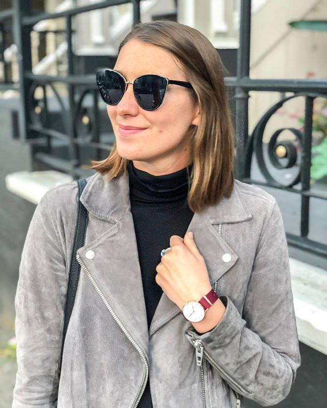 Chilly San Francisco evenings call for my favorite jacket + this cute watch from the @danielwellington Dapper collection! The entire collection is 20% off right now + you can get an extra 15% off with code SHANNI 😱😱 say WHATTT #danielwellington #ad