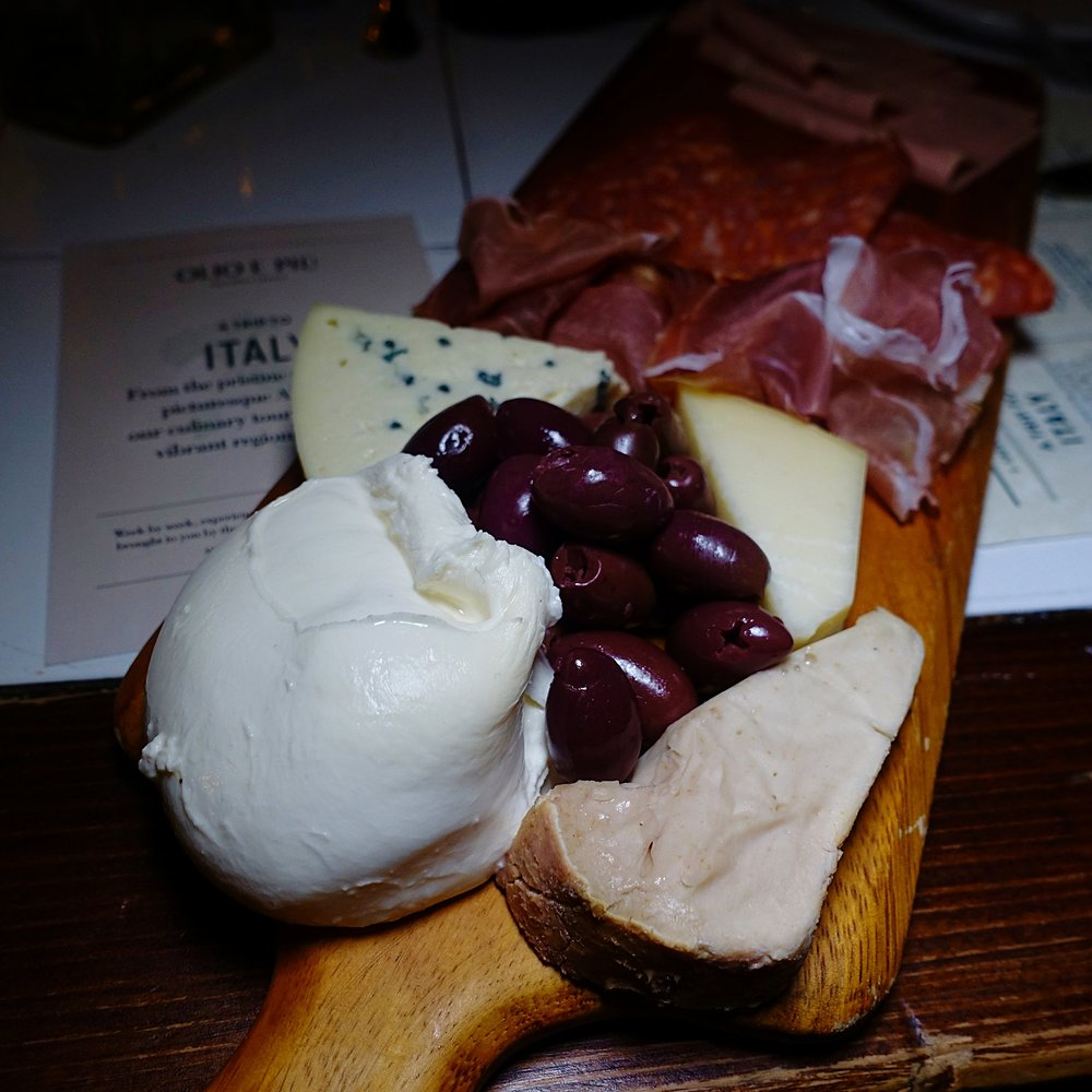 win a trip to italy - olio e pui - italian food - italian restaurant new york tuscan food - mushroom soup meat and cheese board.jpg