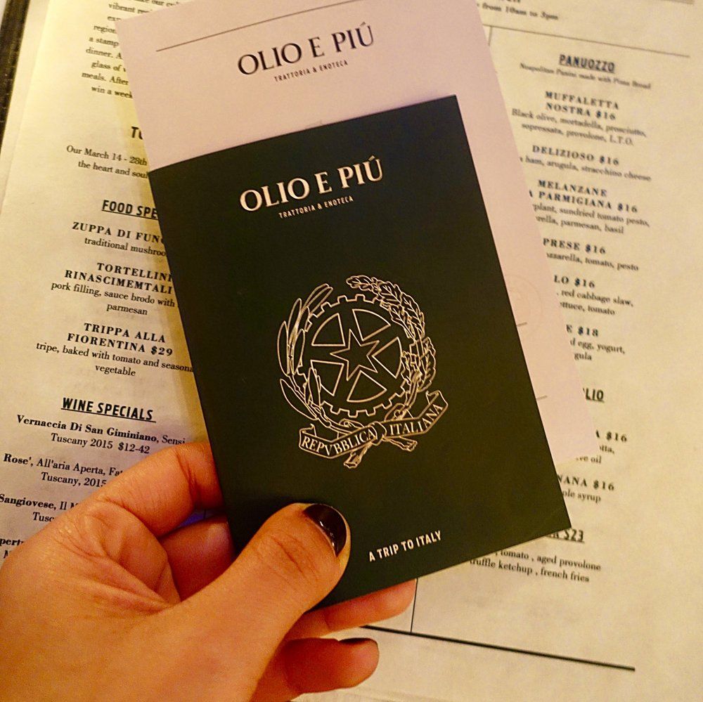 win a trip to italy - olio e pui - italian food - italian restaurant new york tuscan food - passport .jpg