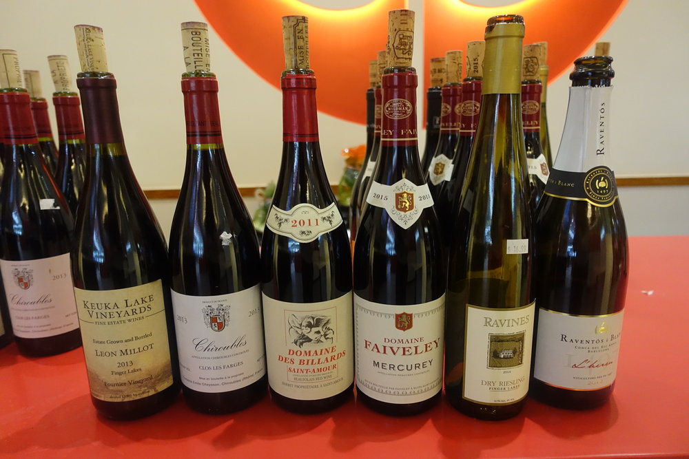 All wines tasted during the event