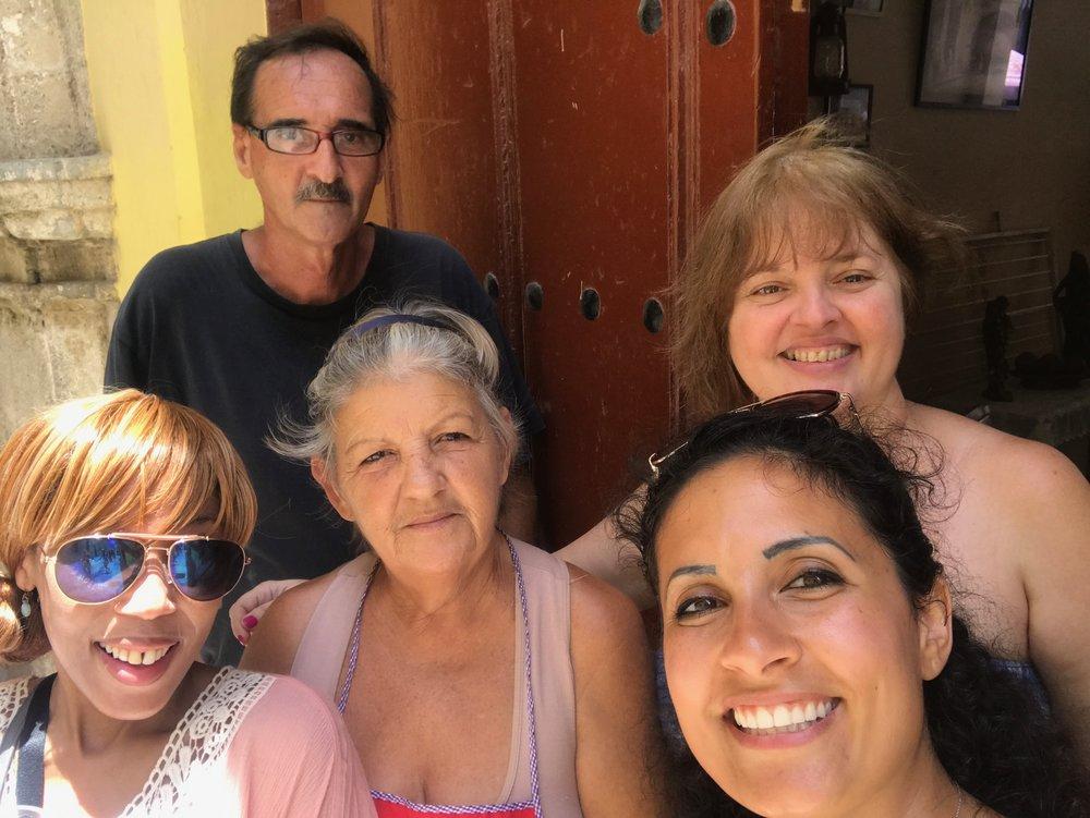 host family in Havana, Cuba