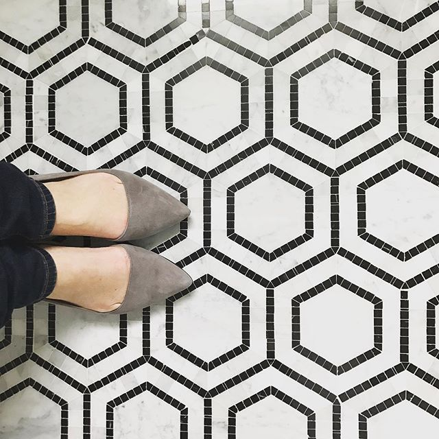 Tbt to when this type of photo was all over Instagram! RIP shoes and tile shots! Don't you love this tile though!!! #tbt #tile #instagramphoto #niceshoes #interiordesign #lifestyleshoot #designer #creative #hexagontiles #marble #itwasgoodwhileitlasted #kitchy #tilefloor