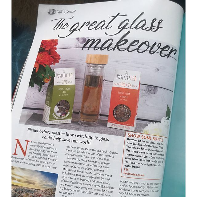 We're thrilled about our feature in Om Yoga Magazine's special focus on the beautiful beverage that is tea and especially since we got to talk about a subject close to our hearts ♥️ - The Great Glass Makeover! We're talking planet here 🌎 and how it's about time we got serious and started an anti-plastic revolution ... our article also talks about the small steps YOU can make to join the Great Glass Makeover, starting with our gorgeous glass infuser flasks on sale now (link in bio). We are all responsible, let's start now! 💪🏻🙏🏻🙌🏻💫🌎 #actnow #thetimeisnow #thegreatglassmakeover #antiplastic #planetnotplastic #plasticfree #planet #tea #herbaltea #herbalife #health #happiness #energy #positivevibes #positiveenergy #balance #siphappiness #notjustteaawaytobe