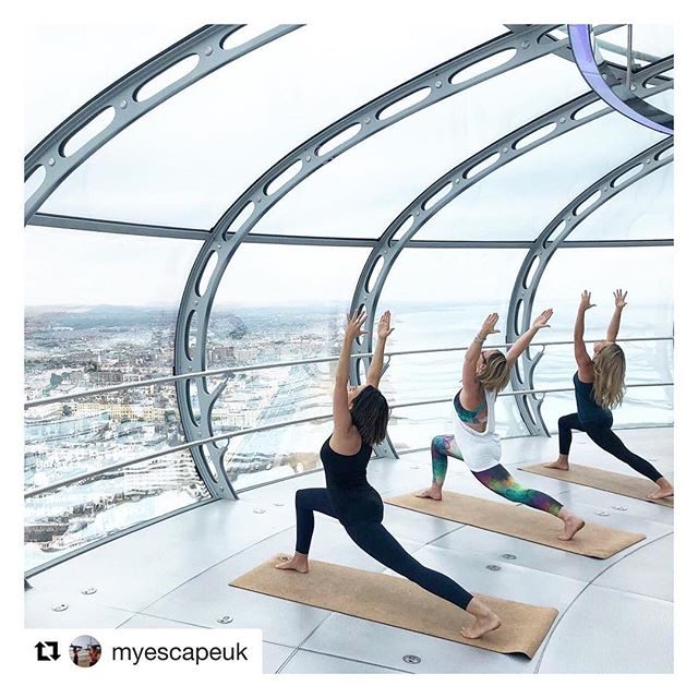 #Repost @myescapeuk with @get_repost ・・・ We are literally buzzing from our special launch event at the @ba_i360  After lots of had work we finally made it happen Yoga in the Sky was simply brilliant and you can be part of it now every month. Next date is up on the @ba_i360 page over the 25th August bank holiday weekend. Don't miss out on this incredible experience.  Big shout out to our crew @ninelivesyoga @brighton_pilates @yogicoops @studio_io @louiseyu.yoga and the amazing sponsors @sweatybetty @positivitealdn @yogaclicks • • • • #escapetothesky #yogainthesky #yogainthepod #yogainthei360 #brightonyoga #pilates #pilatesinthesky #thingstodo #experiencelife #reachthesky