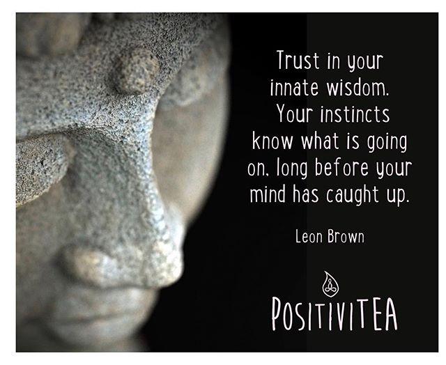 #trustyourinstincts #trustyourgut #innatewisdom #innerknowing #gowithyourgut #innerwisdom #innerself #wisdom #wisdomispower #tea #herbaltea #positiveenergy #balance #yoga #yogaeverydamnday #siphappiness #notjustteaawaytobe #tea #herbaltea #herbalife #health