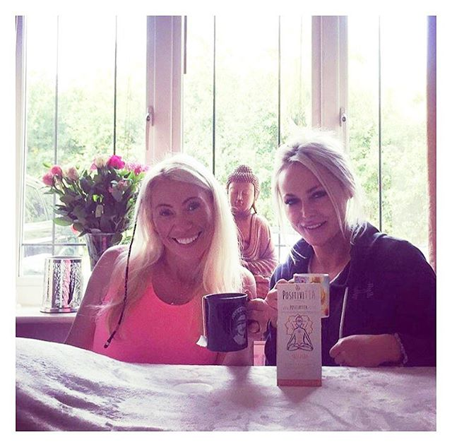 #Repost @claire_stone_ancient_wisdom with @get_repost ・・・ Infusing our solar plexus with some positivitea 🤣 @rimmer82 All the Claire's 😜😍☀️