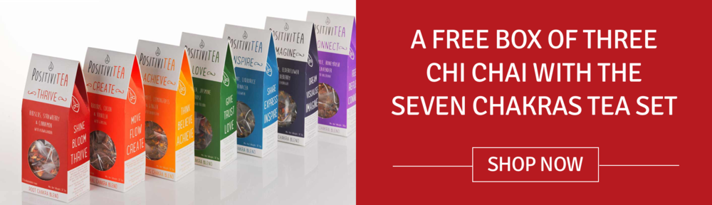 FREE BOX OF THREE CHI CHAI WITH THE SEVEN CHAKRAS TEA SET