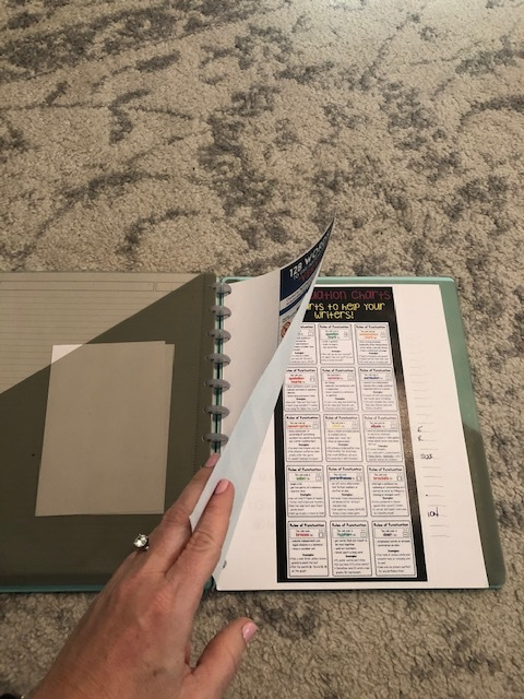 I love having the Tul holepunch too so I can add in pages that I refer to a lot.