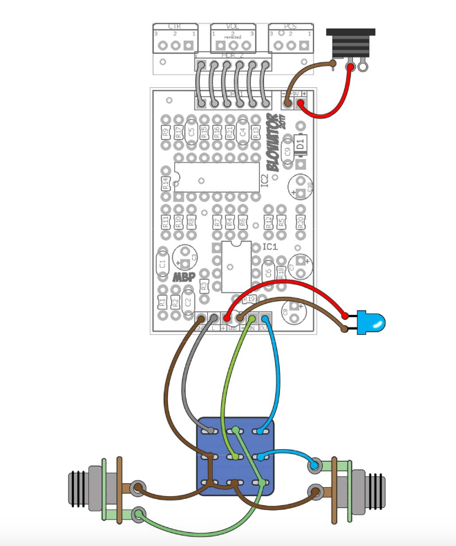 Effect Pedal Wiring Diagram AEMCON