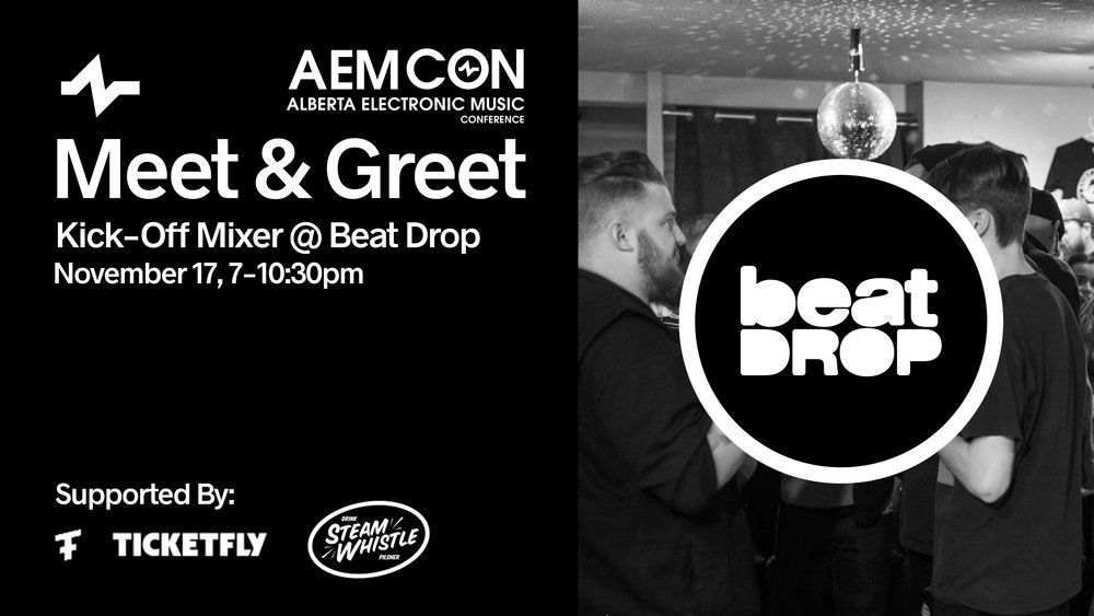 Friday, at Beat Drop - Private event, conference pass holders and artists/speakers