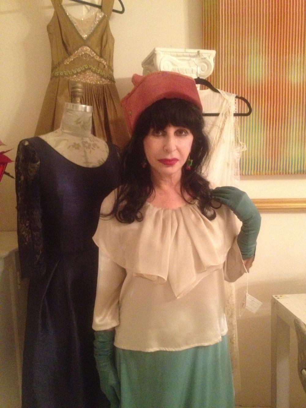 Colette wearing Pierrot Blouse