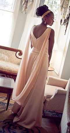 Jamia Wilson in her wedding dress, photo: Essence Magazine