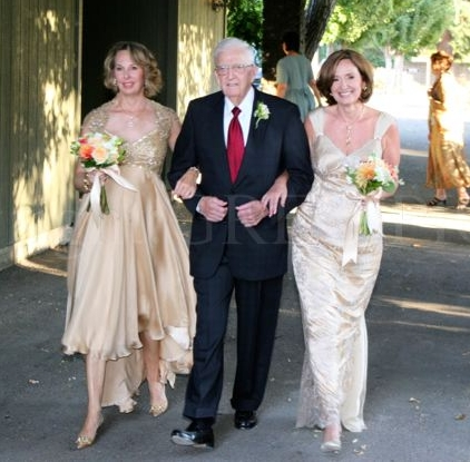 Laura Rose and Melanie Mitchell at double wedding ceremony in Sonoma County California