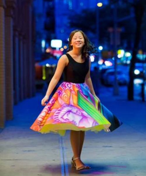Graffiti Bat Mitzvah Dress - photo by Blue Daisy