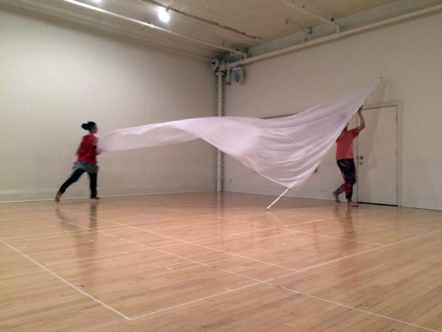 Sails in rehearsal