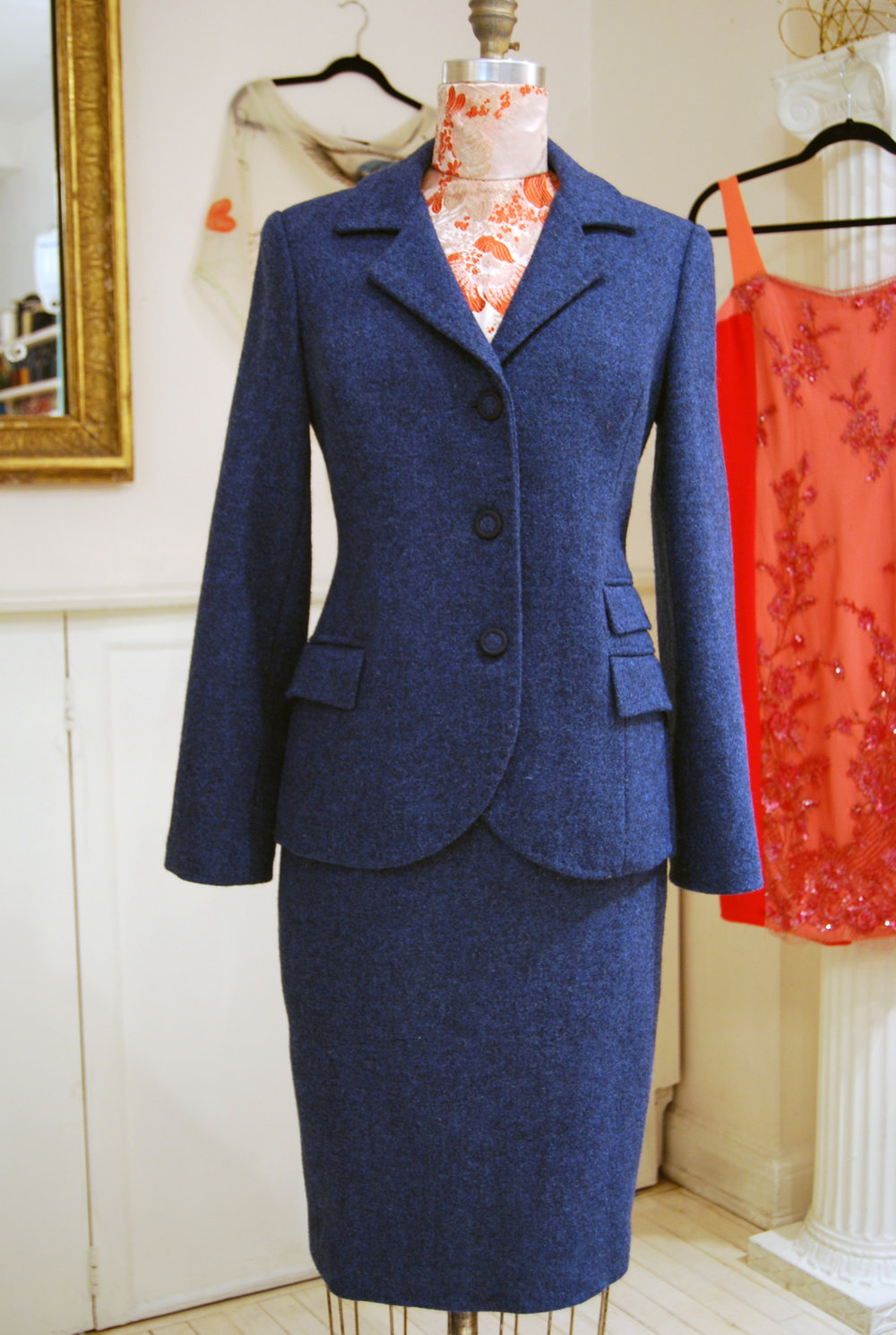 Harris Tweed Wool suit returning for a nip and tuck