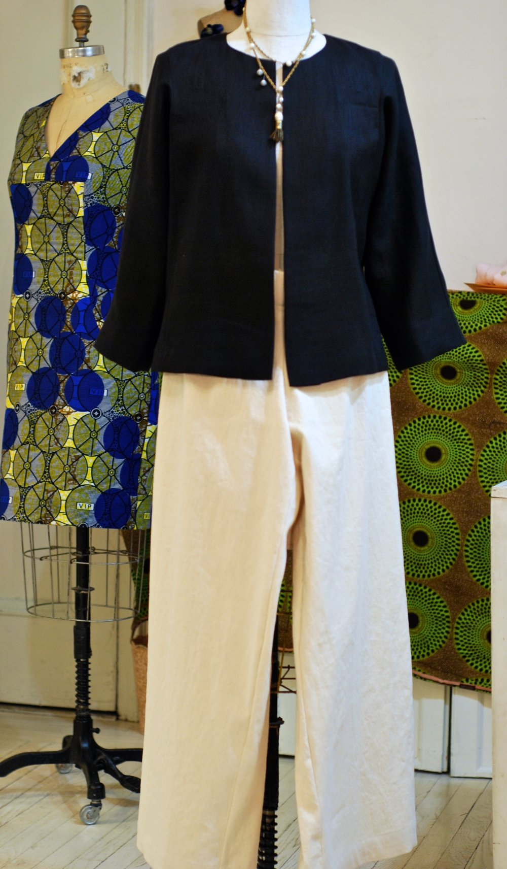 Black linen jacket canvas pants.jpg
