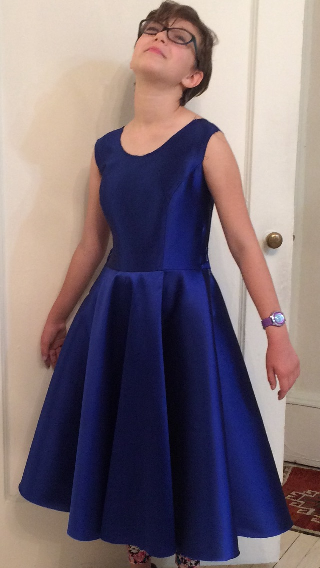 Silk/wool Batmitzvah dress