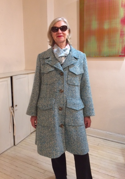 client wearing finished coat