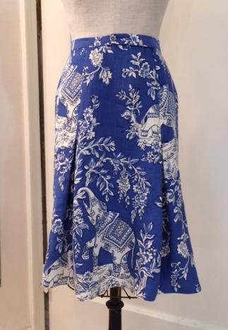 """Italian Upholstery Linen """"Ganesh"""" skirt"""