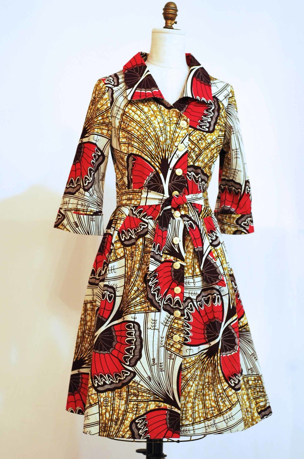 "Butterfly Wrap Dress -  sz 8 - 10  -  waist up to 34""  -  Bust 37""  was $475  -  now  $375.  100%  Cotton  -  Machine Washable   -   SOLD"