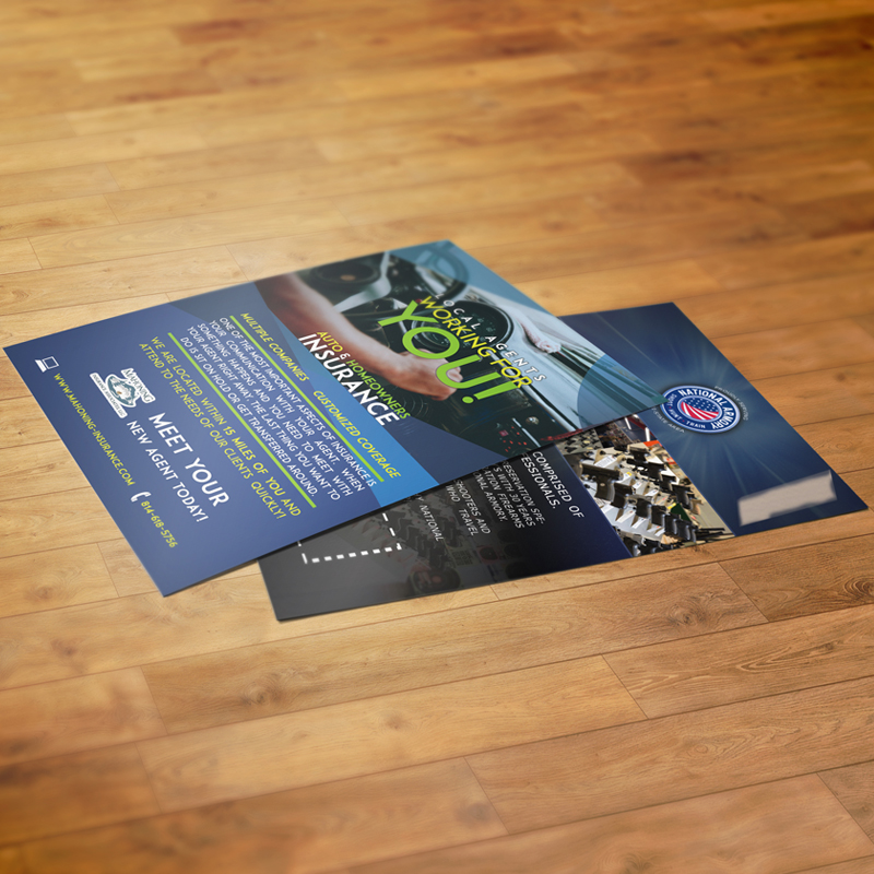multiple sizes, shapes and papers - postcard/flyer