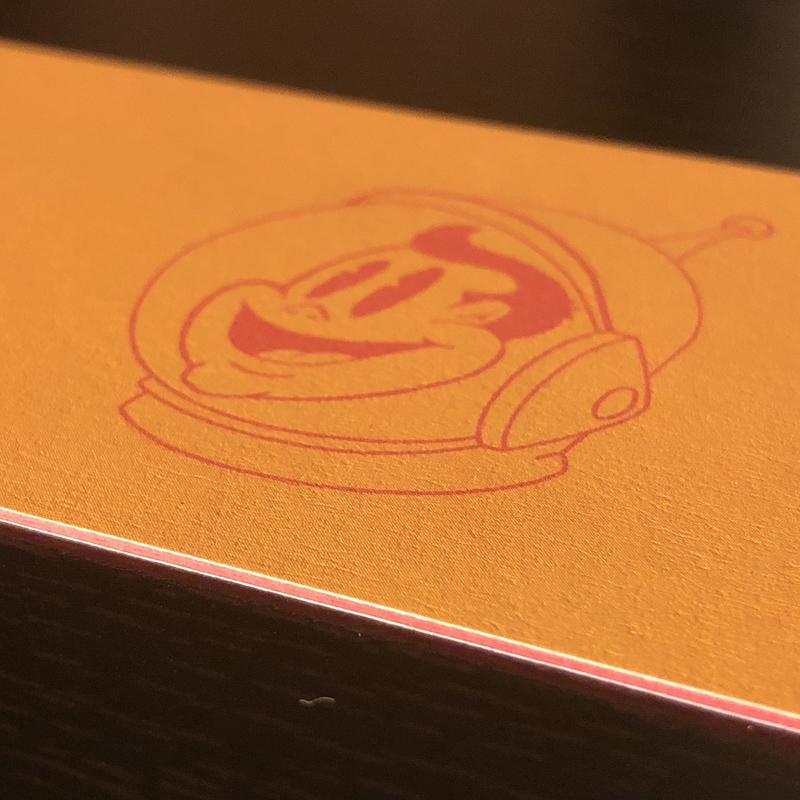 38 pt. - red layer - velvet finish