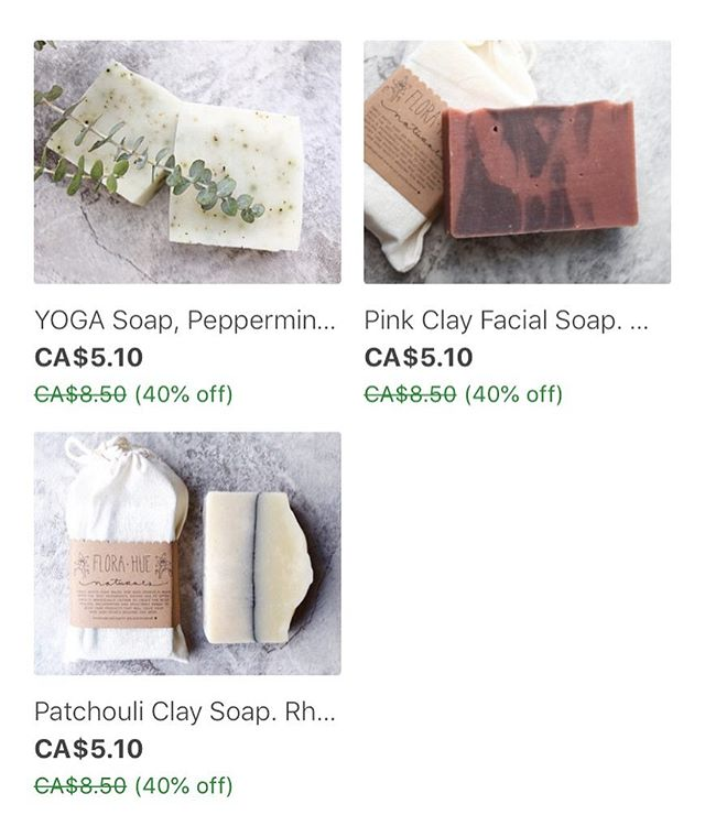 SALE! All soap is currently 40% off! Get em' while they're available 💫